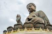 Giant Buddha at Po Lin Monastery Hong Kong — Stock Photo