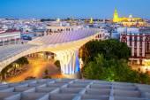 Seville  at dusk spain — Stockfoto