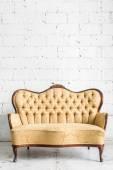 Brown Retro Sofa — Stok fotoğraf