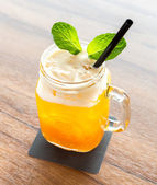 Ice Passionfruit tea — Stock Photo