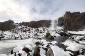 Pingvellir Waterfall in Iceland — Stock Photo