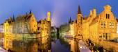 Bruges, Belgium at dusk. — Stock Photo