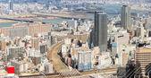 Aerial view of Osaka city — Zdjęcie stockowe