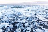Iceberg beach in Iceland — Stock Photo
