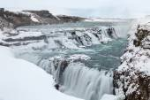 Gulfoss Waterfall in Iceland at Winter — Stock Photo