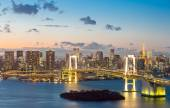 Tokyo Tower and Rainbow Bridge — Stock Photo