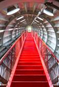Red stairway sucessful concept — Stock Photo