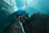 Ice cave in alaska — Stock Photo