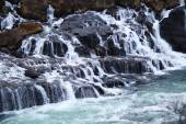 Hraunfossar flow — Stock Photo