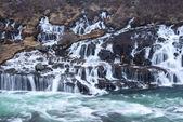 Hraunfossar flow — Stock Photo