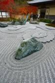 Japanese rock garden — Stock Photo