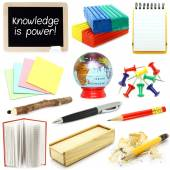 Set of school stationery — Stock Photo