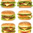 Big hamburgers — Stock Photo #53636983