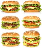 Big hamburgers — Stock Photo