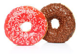 Donuts with sprinkles — Stock Photo