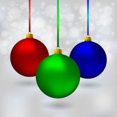 Color Christmas balls — Stock Vector