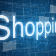 Shopping word on digital background — Stok fotoğraf #65980863