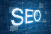 SEO concept on digital background — Stock Photo
