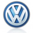 Постер, плакат: Volkswagen logo printed on paper and placed on white background