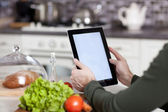 Cooking, technology and home concept — Stock Photo