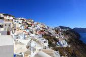 Beautiful white-blue Santorini — Stock Photo