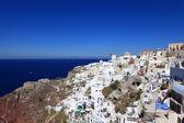 Vacker vit-blå santorini — Stockfoto