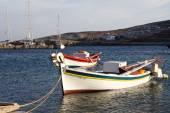 Jachta na řeckých ostrovech — Stock fotografie
