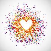 Rainbow Love Background — Stock Vector