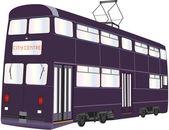 Double Deck Tramcar — Stock Vector