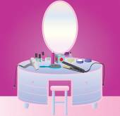 Dressing Table — Stock Vector