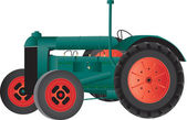Vintage Farm Tractor — Stock Vector