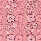 Seamless pattern with Abstract doodle square flowers pink — Stock Vector