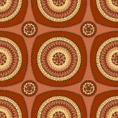 Seamless pattern with circle ornament  in brown black — Stock Photo