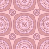 Seamless pattern with circle ornament  in pink lilac — Stock Photo