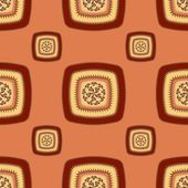 Abstract Seamless pattern with square  on red brown — Stockfoto