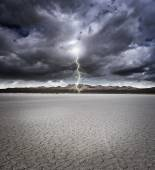 Dry lake bed — Stock Photo