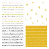 Hand drawn seamless patterns — Stock Vector