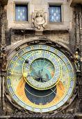 Astronomical clock at the Old Town of Prague — Foto de Stock