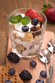 Granola with muesli and various berries — ストック写真