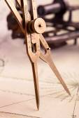 Brass proportional divider — Stock Photo