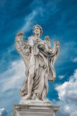 Holy angel at Ponte Sant' Angelo, Rome, Italy — Stock Photo