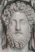 A statue of powerful Hercules, closeup, Rome, Italy — Stock Photo