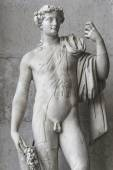 Statue of  naked Apollone with a cat, Rome, Italy — Stock Photo