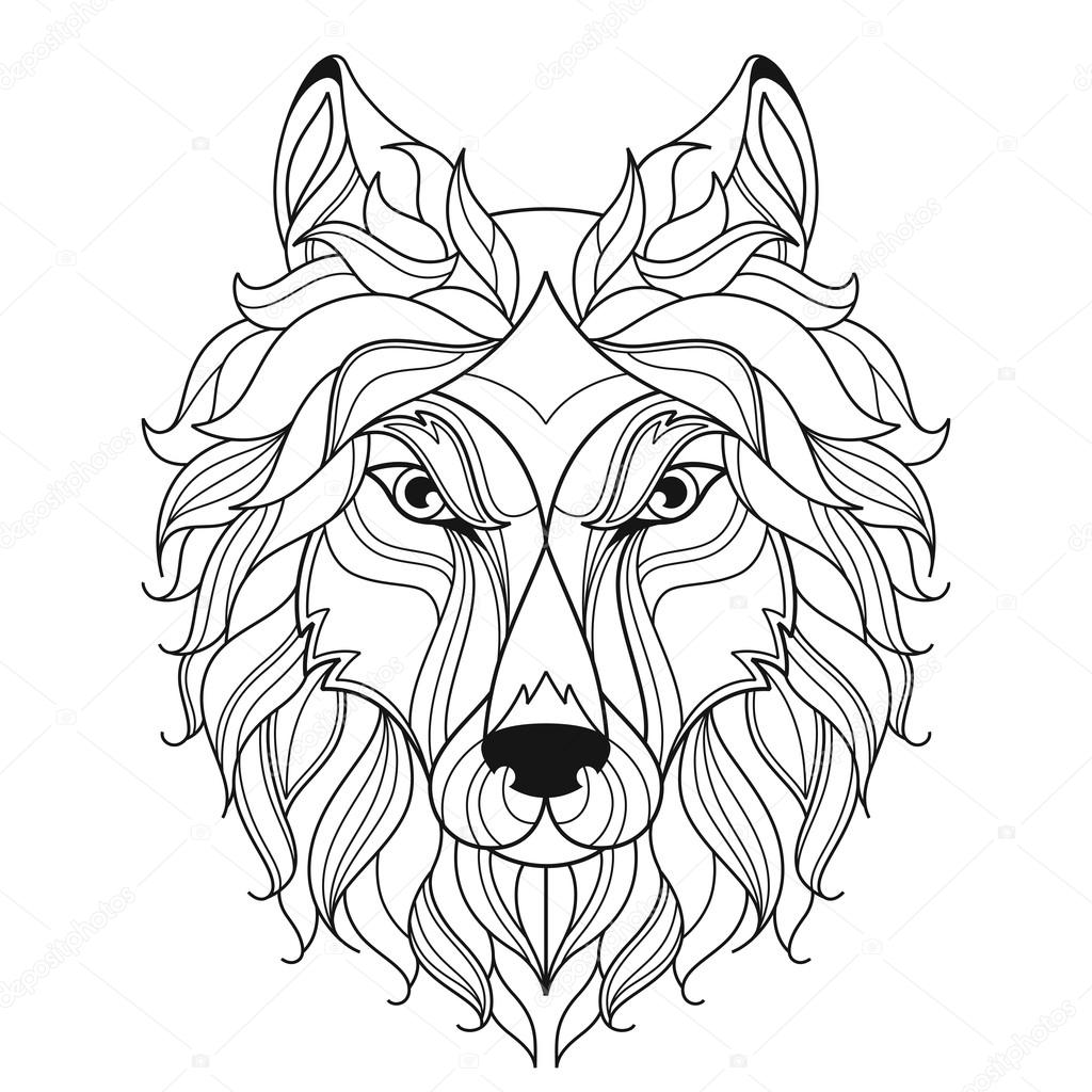 Relax Wolf Coloring Pages