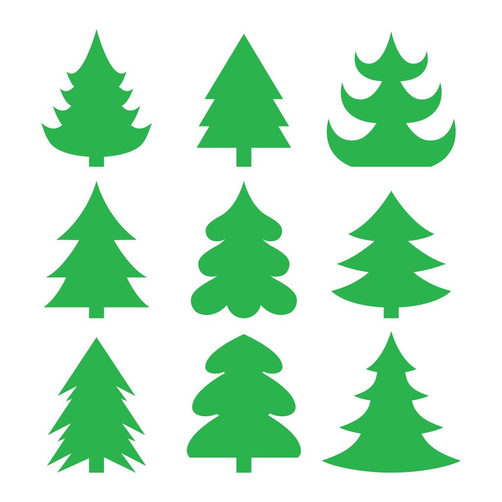 Christmas trees — Vector de stock