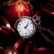 New Year set with red baubles — Stock Photo #58004169