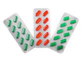 Three blisters of pills — Stock Photo