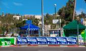 Election campaigning materials near a voting station in Israel — Stock Photo