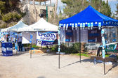 Campaign stands during elections day in Israel — Stock Photo