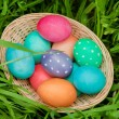 Easter eggs basket from above — Stock Photo #68408625